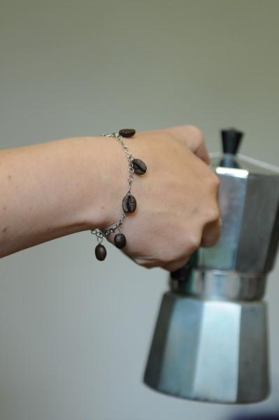 Armband mit Kaffeebohne, natur